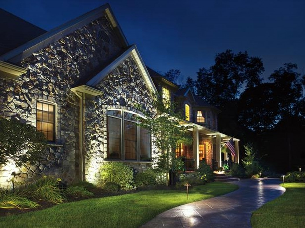 Outdoor Landscape Lanterns Inside Most Recent Home Exterior Lighting Outdoor Buying Guide Led Light Lights For (View 10 of 20)