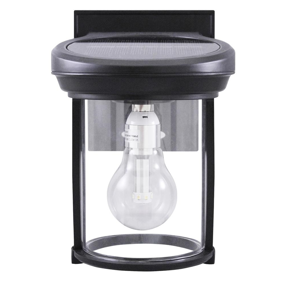 Outdoor Lanterns And Sconces Intended For Most Popular Black – Solar – Outdoor Wall Mounted Lighting – Outdoor Lighting (View 2 of 20)