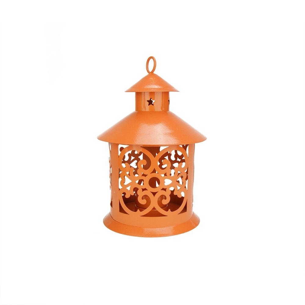 Outdoor Lanterns And Votives With 2018 Northlight 8 In. Shiny Orange Votive Or Tealight Candle Holder (Gallery 8 of 20)