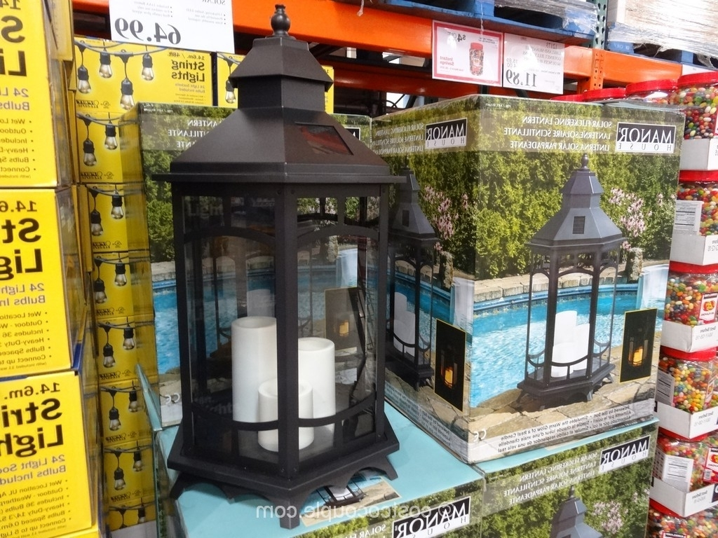 Outdoor Lanterns At Costco Inside Well Liked Large Solar Lantern Cool Outdoor Lanterns Costco Garden Lights Patio (View 13 of 20)