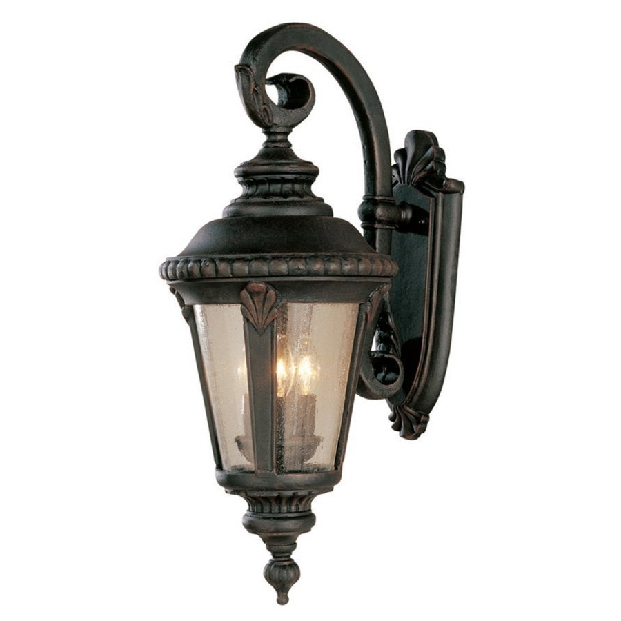 Outdoor Lanterns At Lowes Inside Fashionable Allen + Roth 24 In Tan Outdoor Wall Mounted Light (View 8 of 20)