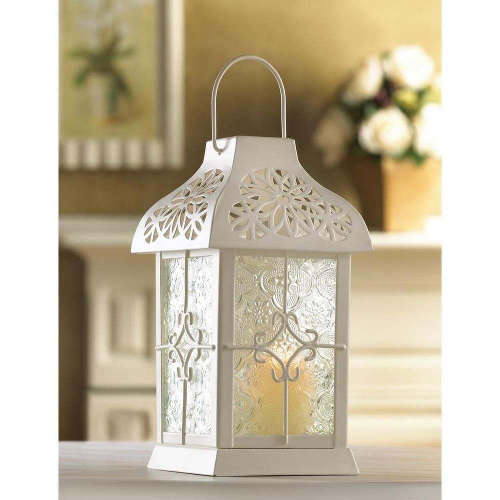 Outdoor Lanterns, Daisy Gazebo Metal Decorative Floor Patio Lantern Inside Most Recent Outdoor Lanterns For Patio (View 18 of 20)