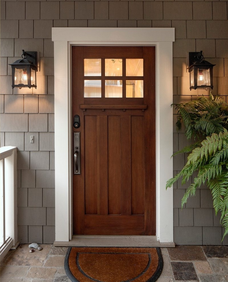 Outdoor Lanterns For Front Door With Regard To Newest Mountain Style Front Door Ideas Exterior Craftsman With Coastal D (View 10 of 20)