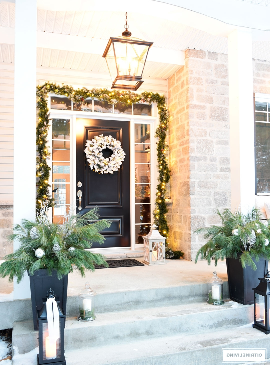 Outdoor Lanterns For Front Porch With Preferred Outdoor Christmas Decor And New Lighting With The Most Stylish Front (View 16 of 20)
