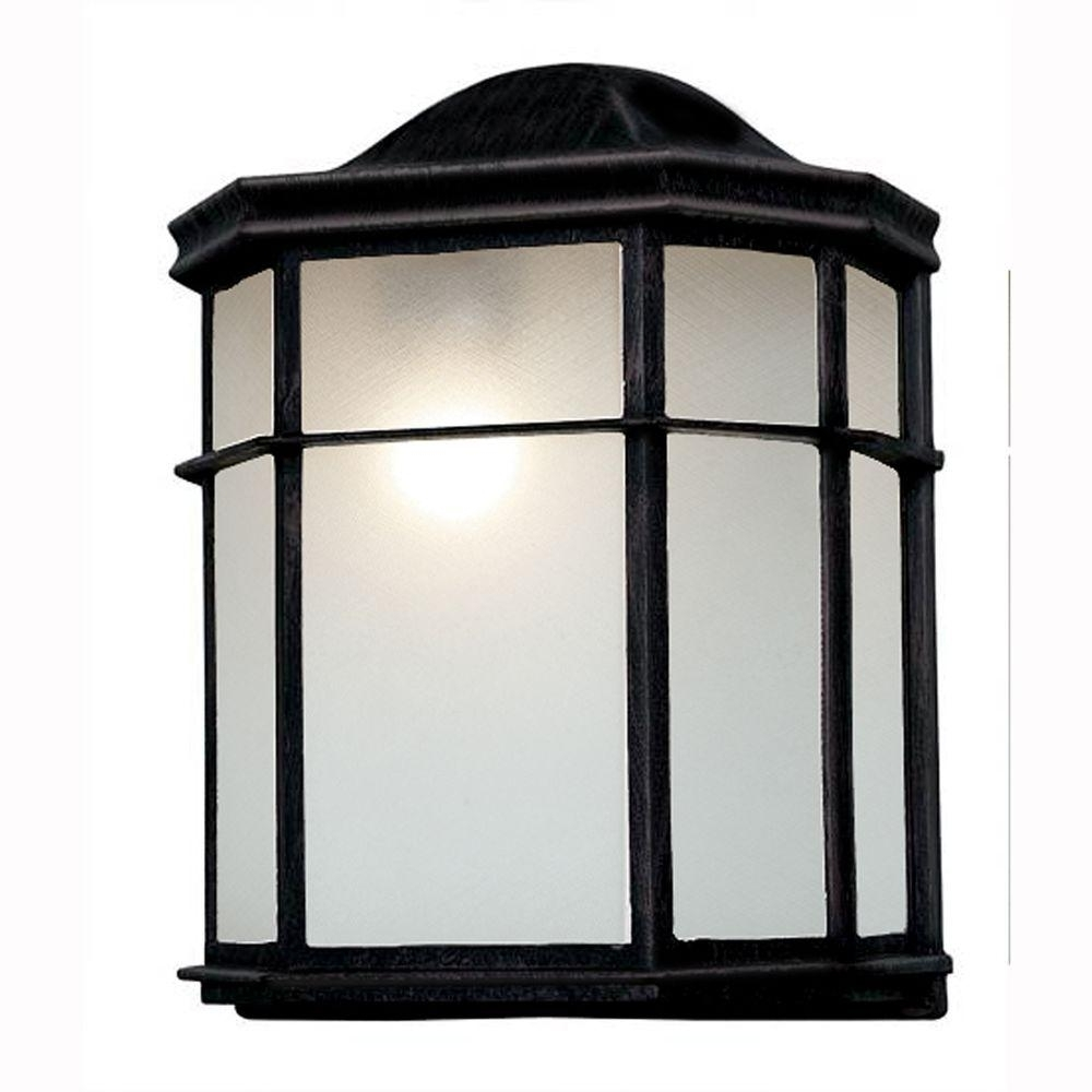 Outdoor Lanterns For Patio Inside Well Known Bel Air Lighting 1 Light Outdoor Black Patio Wall Lantern With (View 11 of 20)