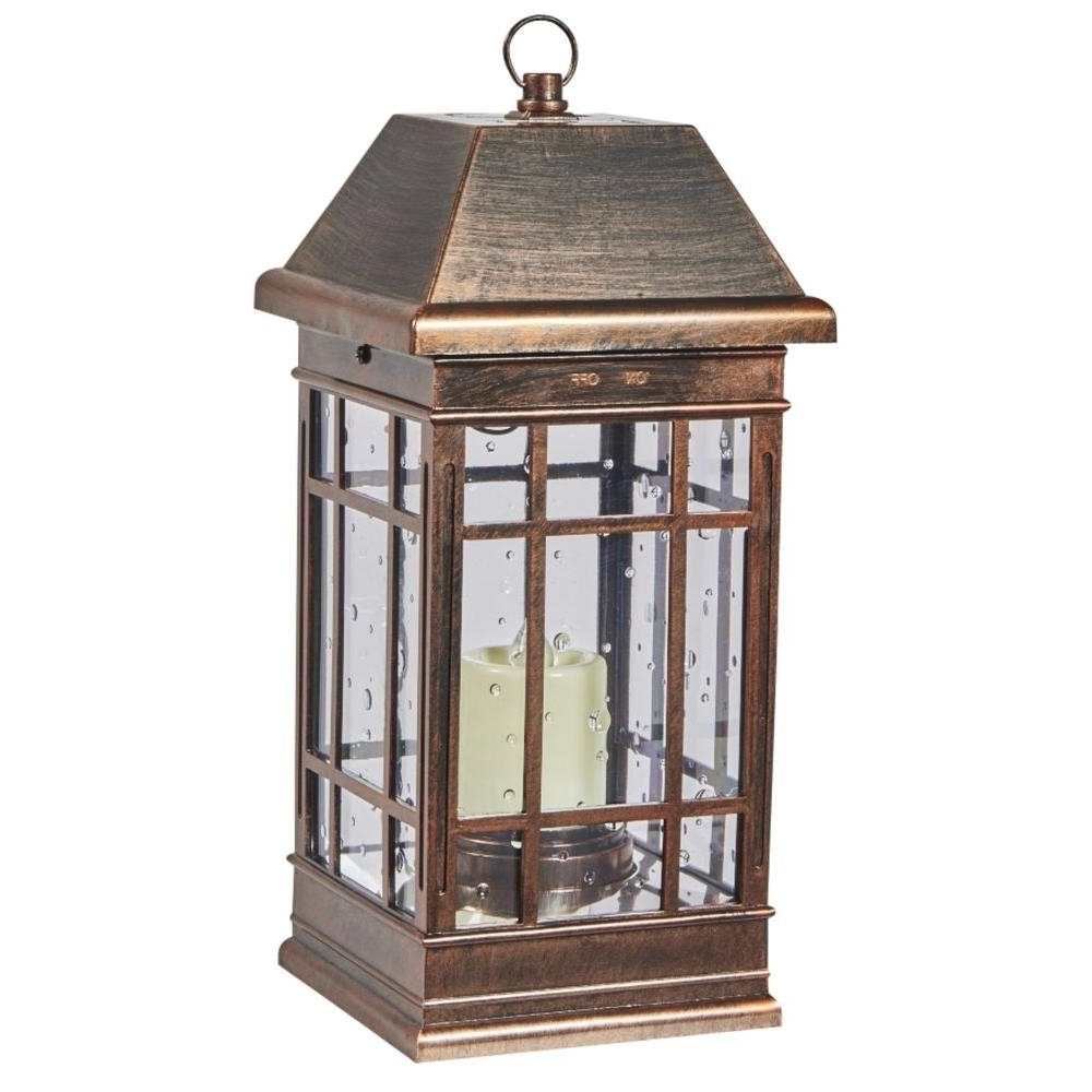 Outdoor Lanterns For Pillars With Most Up To Date Battery – Outdoor Lamps – Outdoor Lighting – The Home Depot (Gallery 8 of 20)