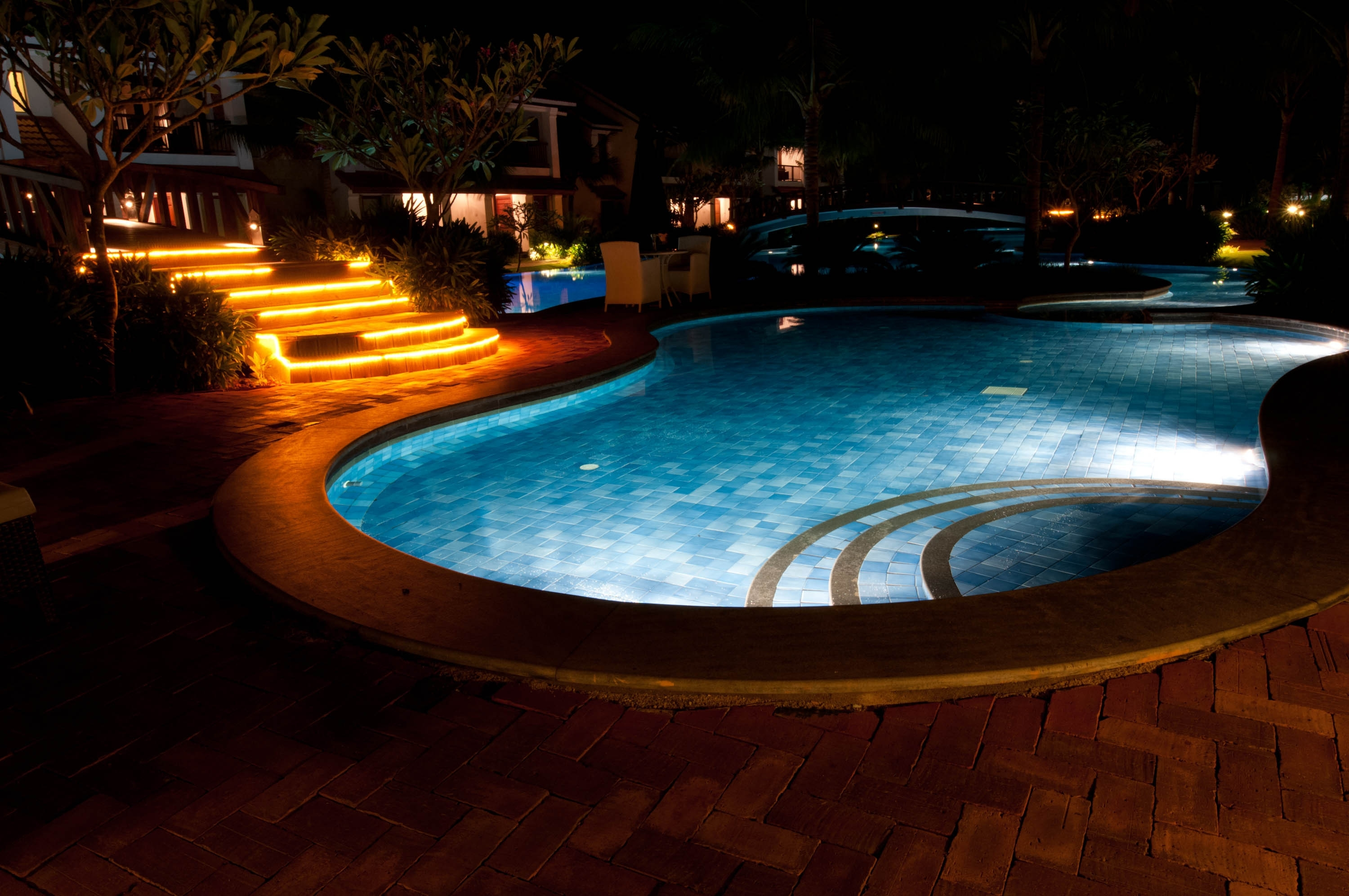 Outdoor Lanterns For Poolside With Regard To Most Current Outdoor Lighting Trends For Long Winter Nights – Cypress Custom Pools (View 11 of 20)