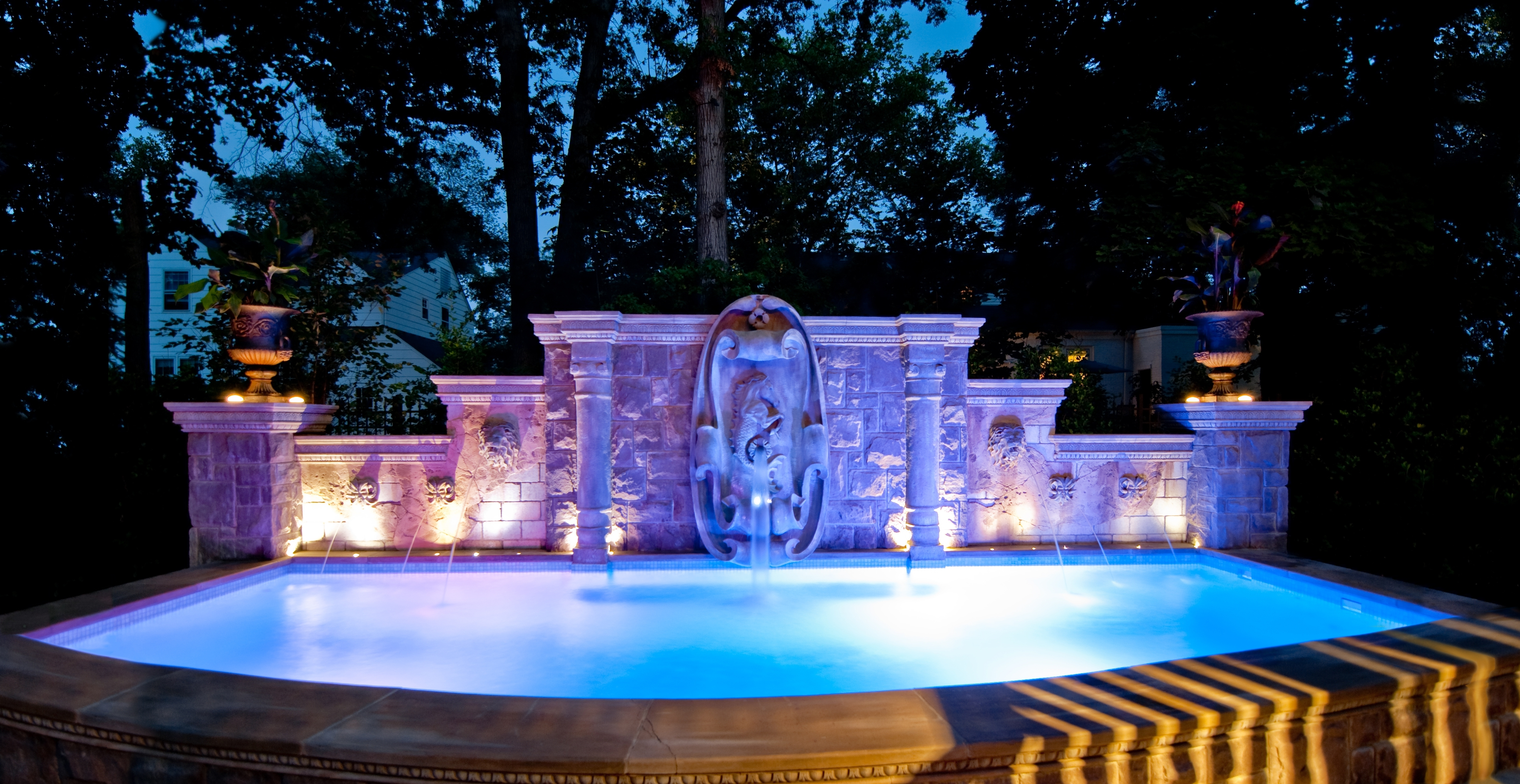 Outdoor Lanterns For Poolside With Well Known Absolutely Outdoor Pool Lantern Swimming Wall Light Neuro Tic Com (View 20 of 20)