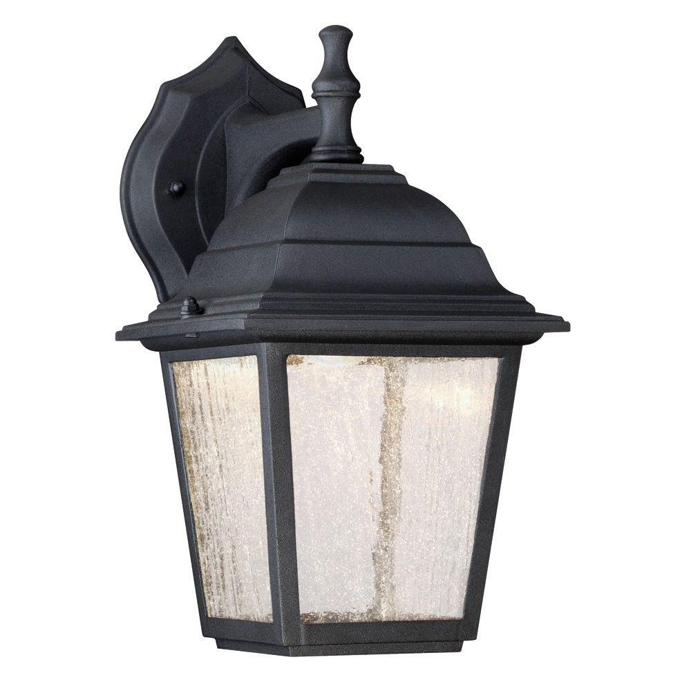 Outdoor Lanterns For Porch Inside Well Known Westinghouse 1 Light Black Outdoor Integrated Led Wall Mount Lantern (View 18 of 20)