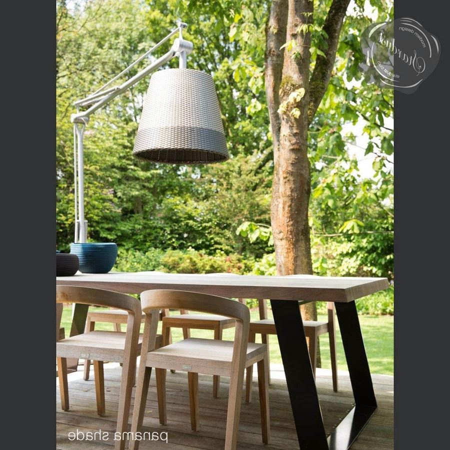 Outdoor Lanterns For Tables Within Newest Flos Superarchimoon Outdoor Floor Lampphilippe Starck (View 14 of 20)