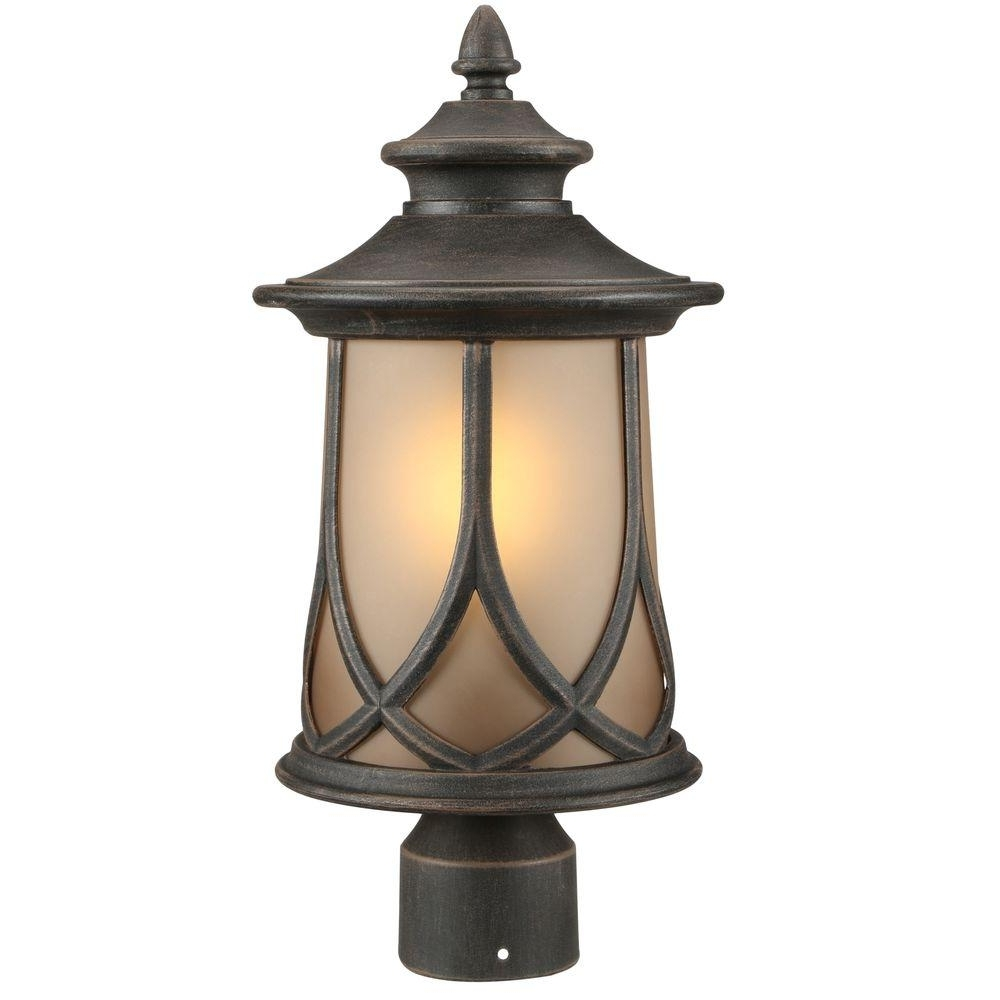 Outdoor Lanterns On Post Throughout 2019 Progress Lighting – Post Lighting – Outdoor Lighting – The Home Depot (View 12 of 20)