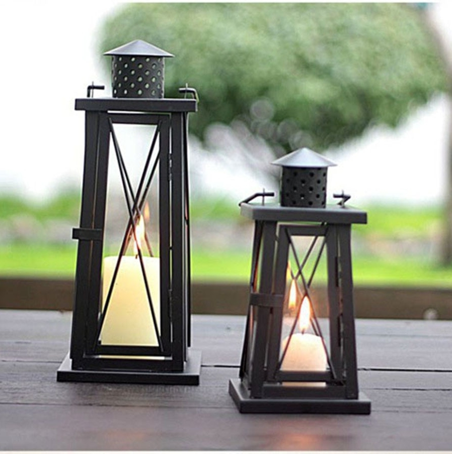 Outdoor Lanterns On Stands Intended For Most Current Outdoor Lighting Wall Lamp Led Modern Bedroom Decorative Candle (View 14 of 20)