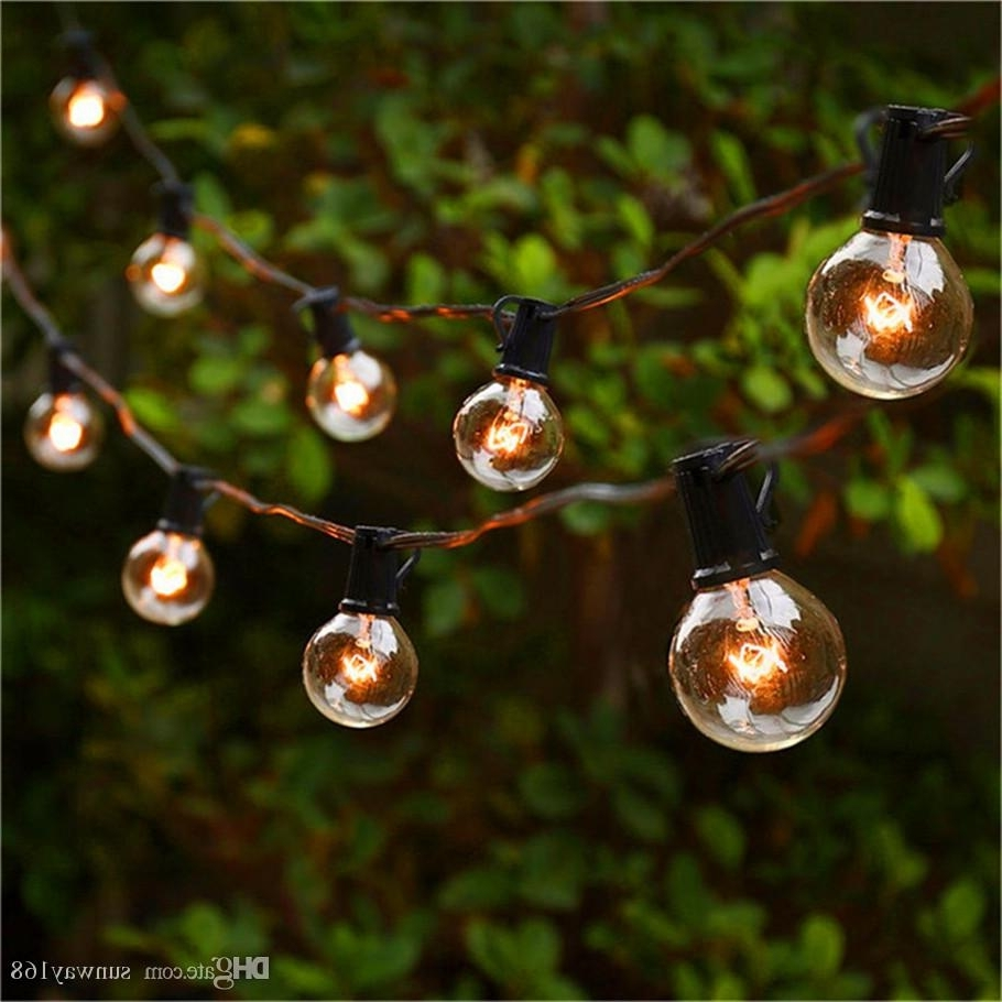 Outdoor Lanterns On String For Well Liked String Lights With 25 G40 Globe Bulbs Ul Listed For Indoor/outdoor (Gallery 13 of 20)