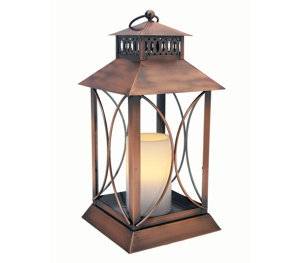 Outdoor Lanterns With Battery Candles Inside Well Known Extra Large Outdoor Candle Lanterns Interesting Lantern Floor (Gallery 11 of 20)
