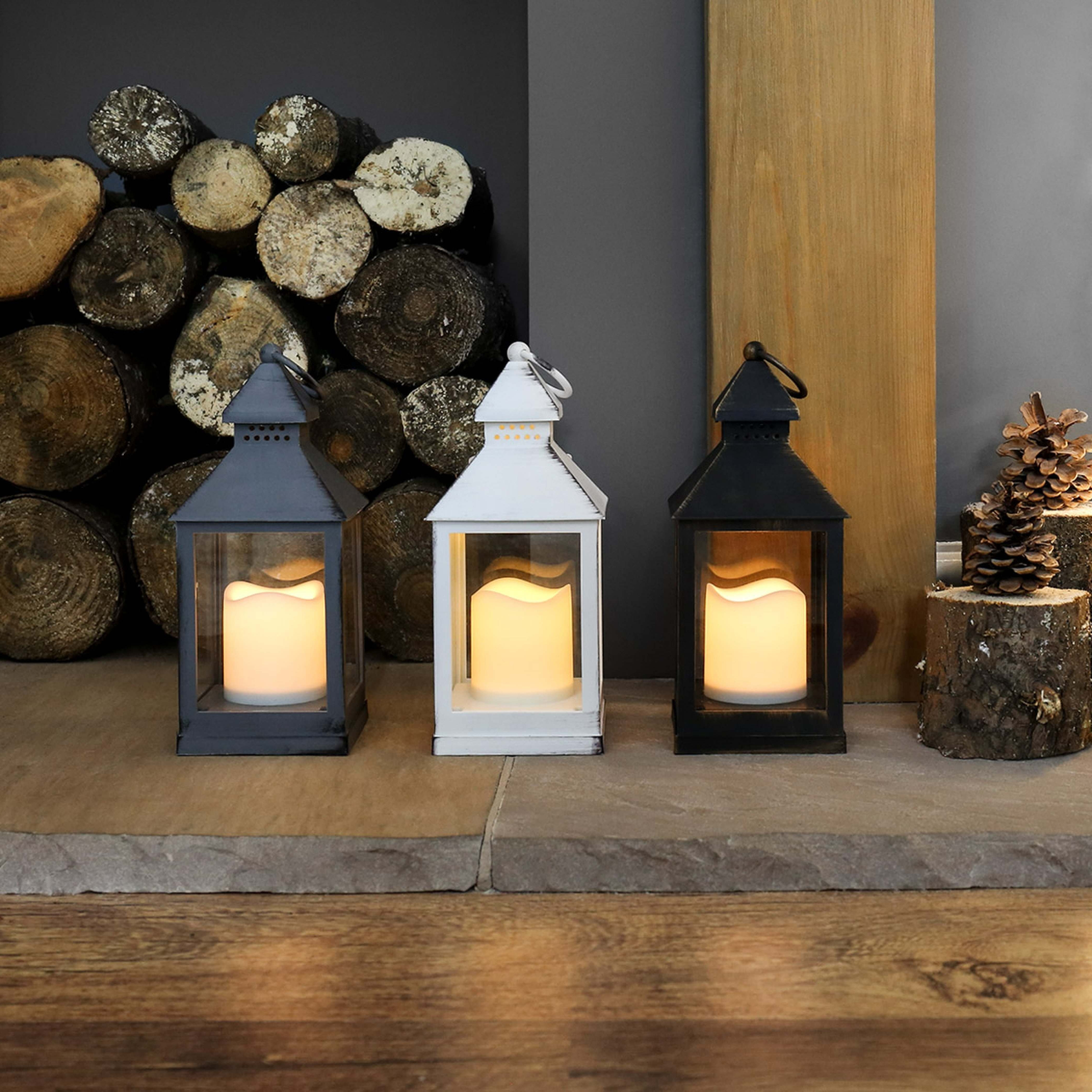 Outdoor Lanterns With Battery Candles Pertaining To Well Known Outdoor Battery Flickering Candle Lantern, 24cm (View 7 of 20)