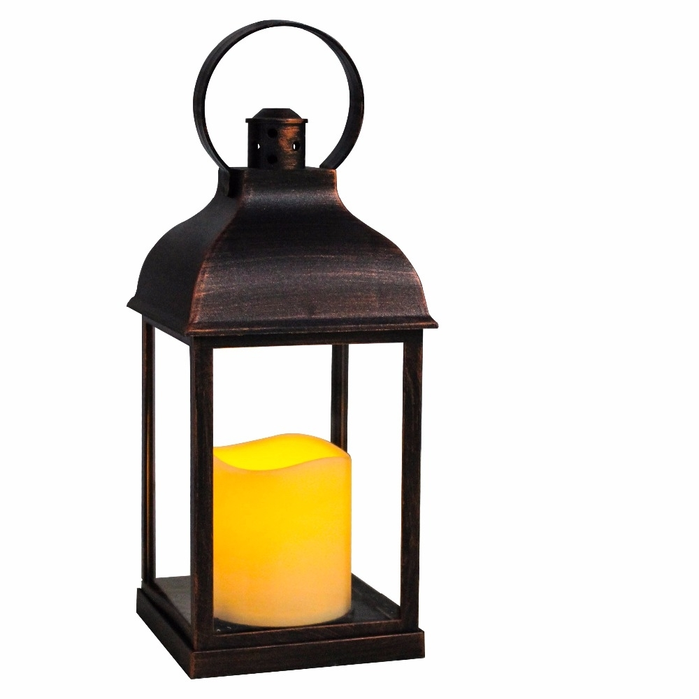 Outdoor Lanterns With Battery Candles With Most Up To Date Wralwayslx Decorative Lanterns With Flameless Candles With Timer (Gallery 6 of 20)