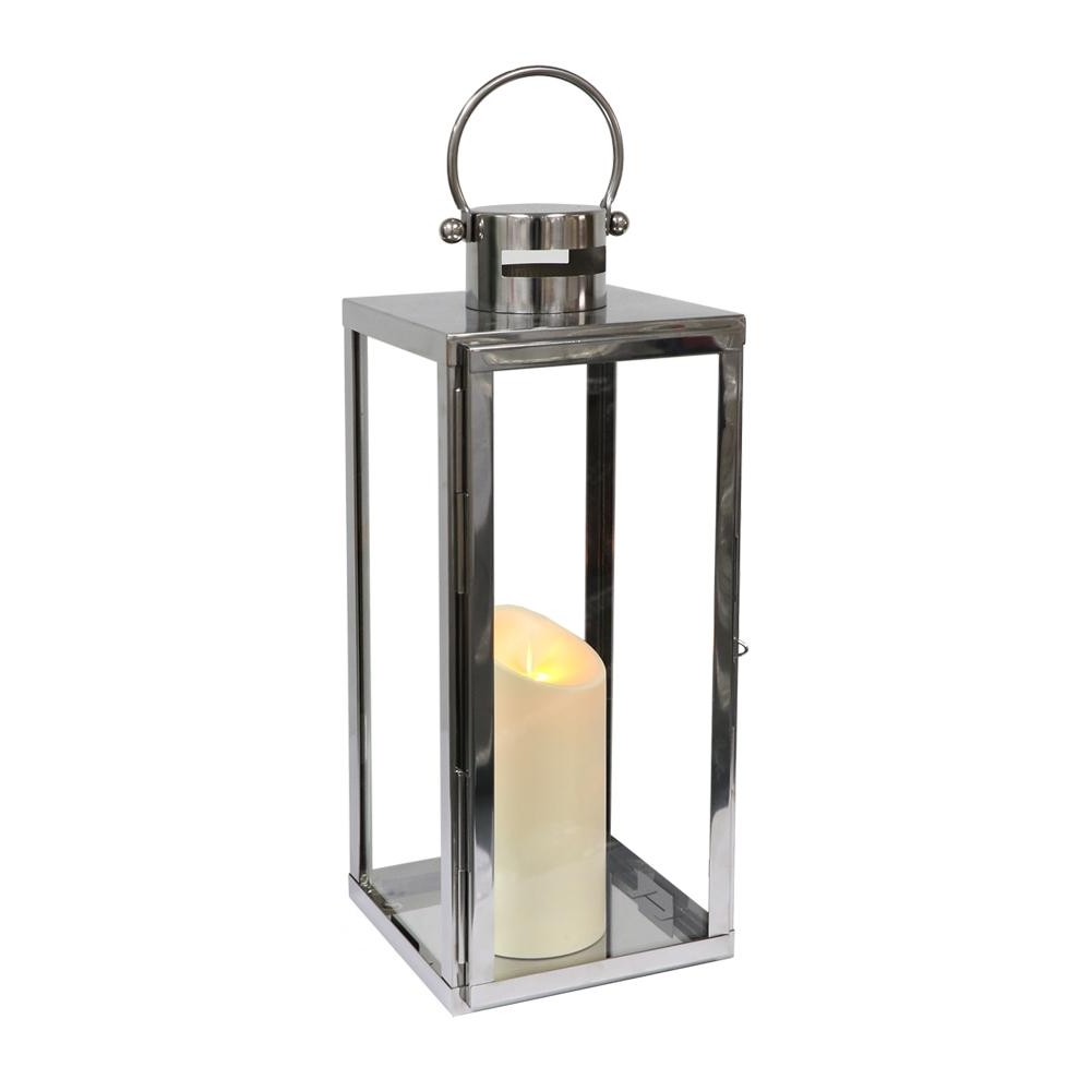 Outdoor Lanterns With Battery Operated Candles Inside Widely Used 16 In (View 11 of 20)