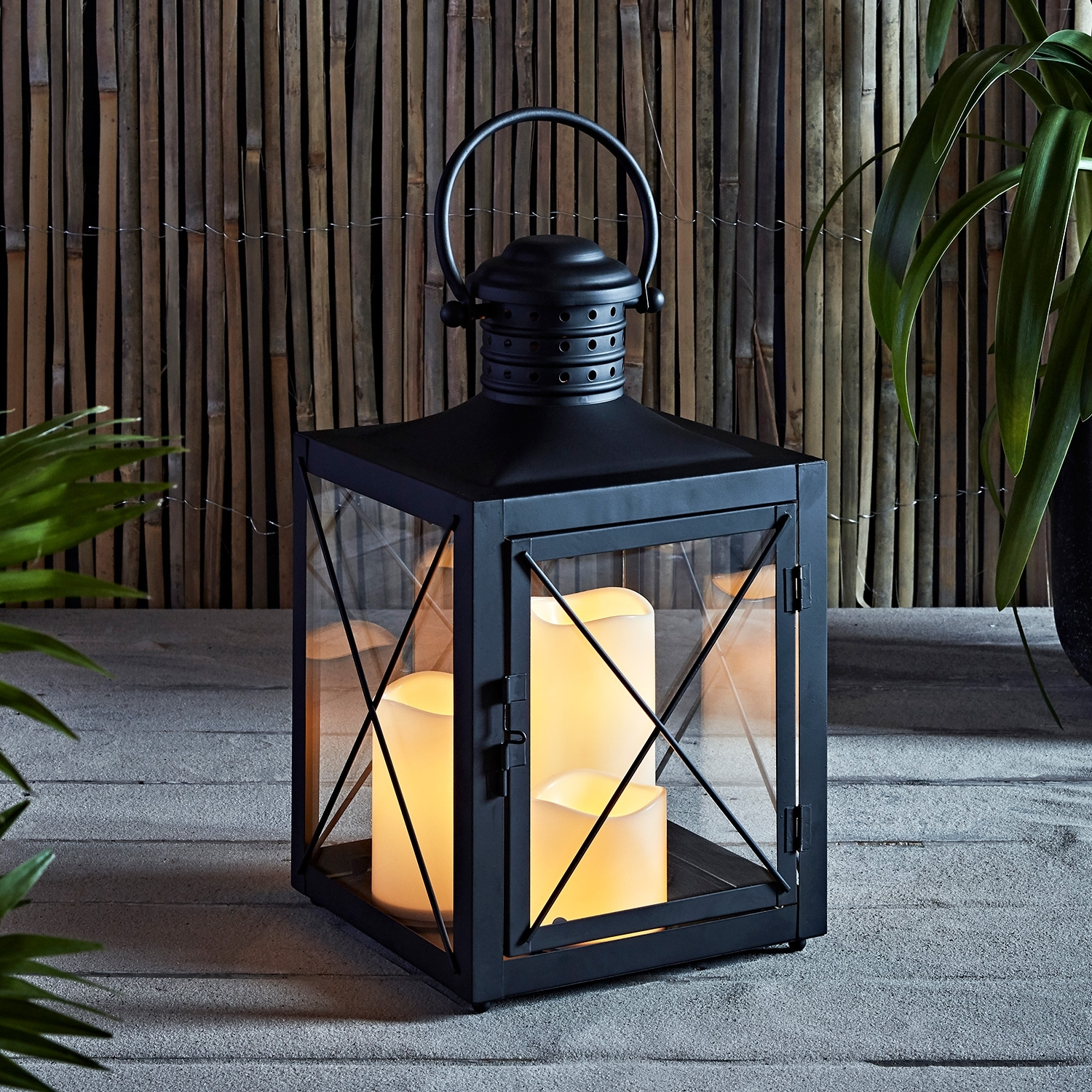 Outdoor Lanterns With Battery Operated Candles With Fashionable Lights4Fun, Inc (View 13 of 20)