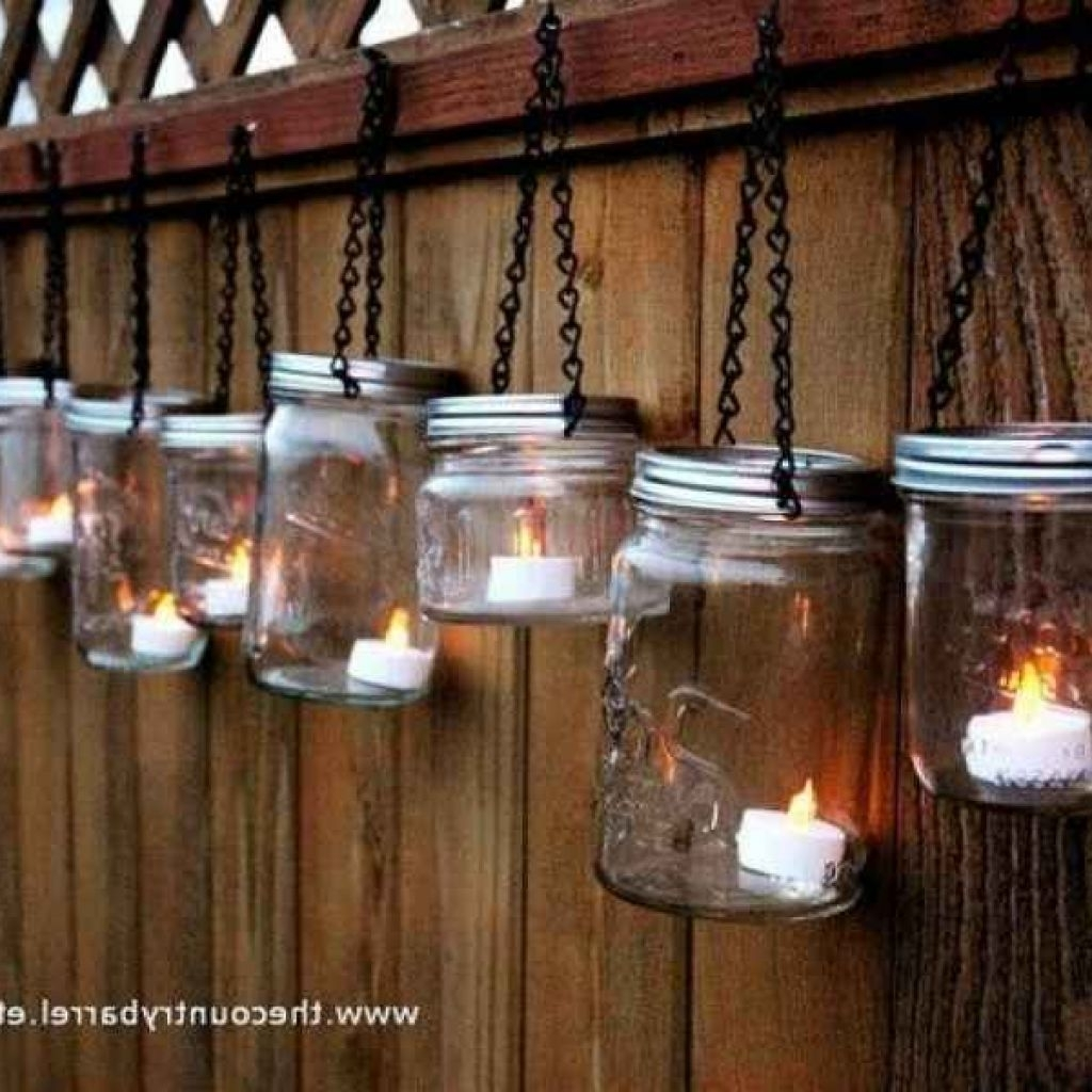 Outdoor Lanterns With Battery Operated For Popular Mason Jar Lights Use Battery Operated Candles For Mason Jar Outdoor (View 12 of 20)