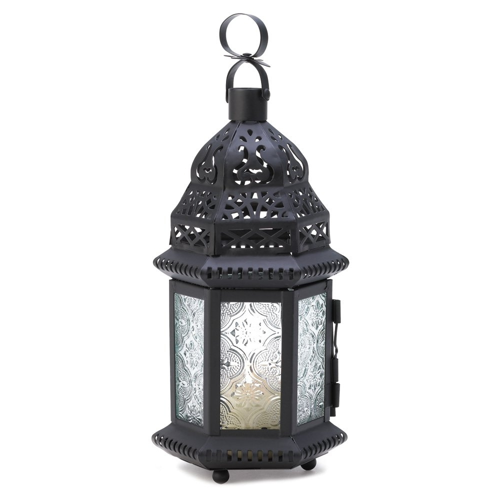 Outdoor Lanterns With Flameless Candles In Trendy Moroccan Lanterns Decorative, Rustic Moroccan Lantern Candle Holder (View 10 of 20)
