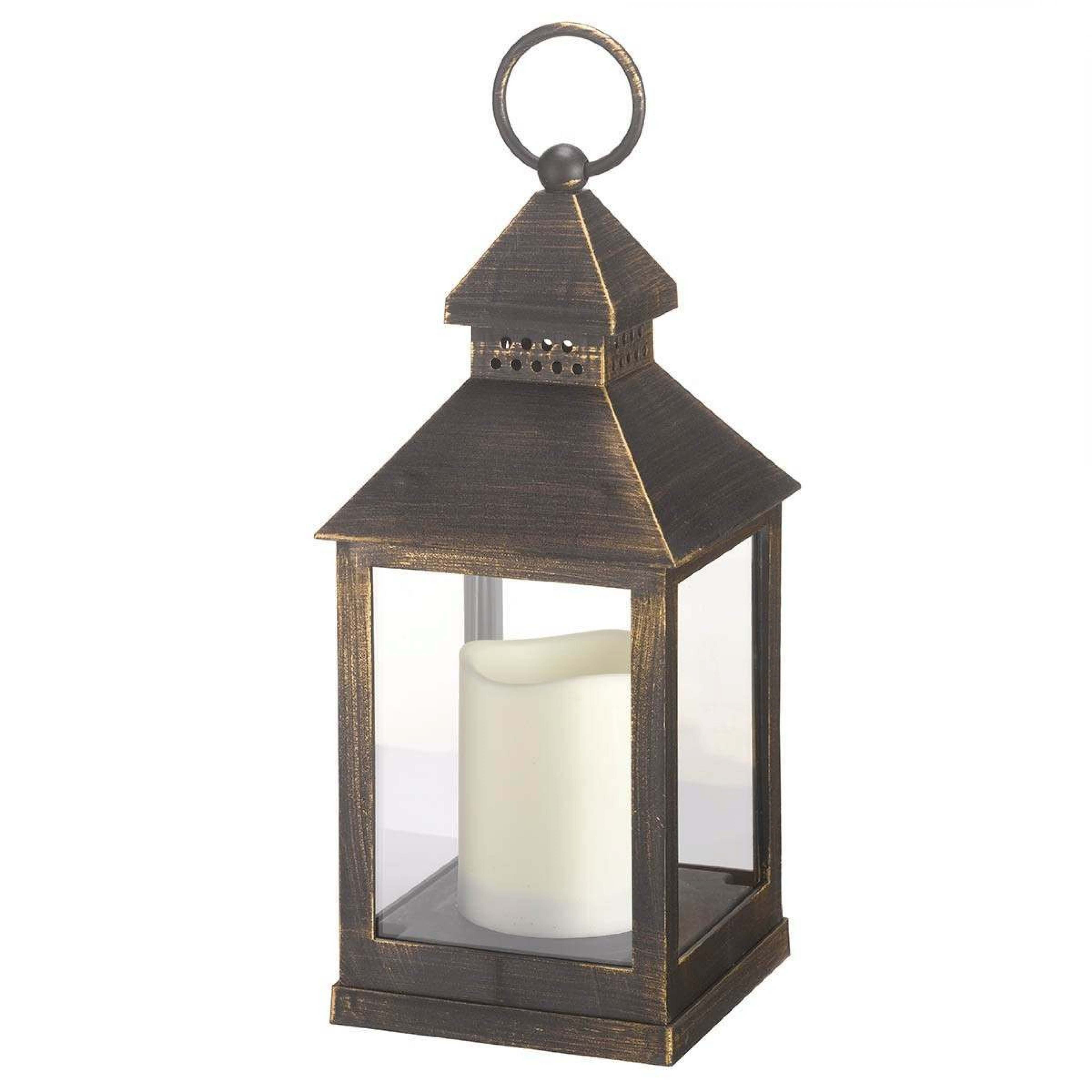 Outdoor Lanterns With Flameless Candles Throughout Well Known Outdoor Battery Kentish Candle Lantern, 23cm, 2 Pack (View 13 of 20)