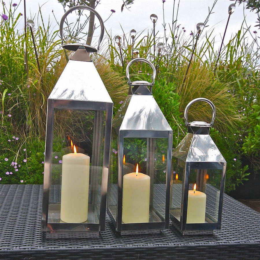 Outdoor Lanterns With Flameless Candles With Widely Used St Mawes Hurricane Garden Lanternlondon Garden Trading (View 16 of 20)