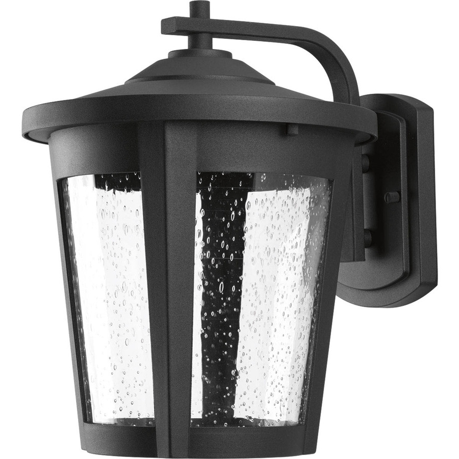 Outdoor Lanterns With Led Lights With Popular Shop Progress Lighting East Haven Led 12 In H Black Led Outdoor Wall (View 12 of 20)