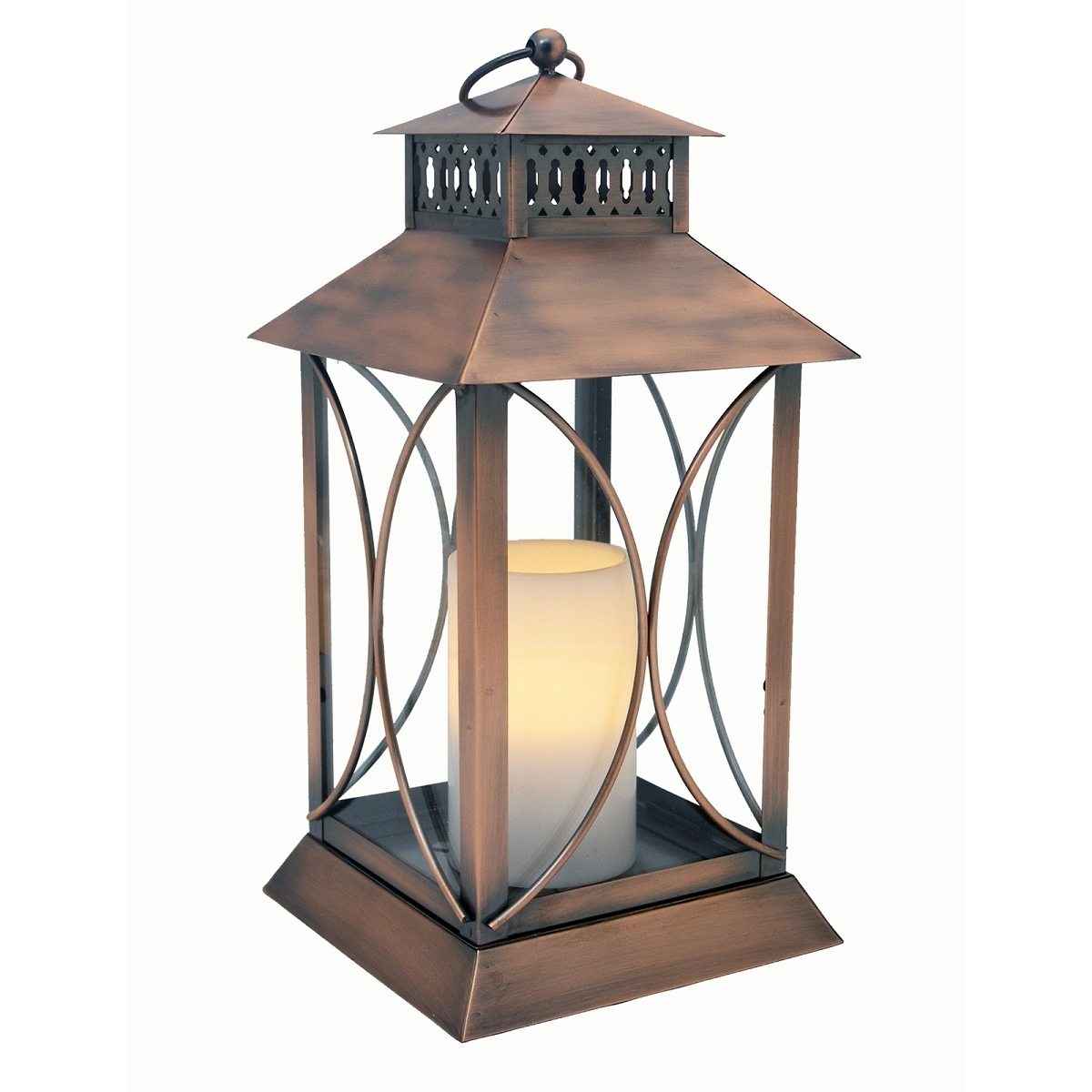 Outdoor Lanterns With Timers Pertaining To Most Current Neuporte Flameless Candle Lantern With Timer Indoor Outdoor (View 8 of 20)