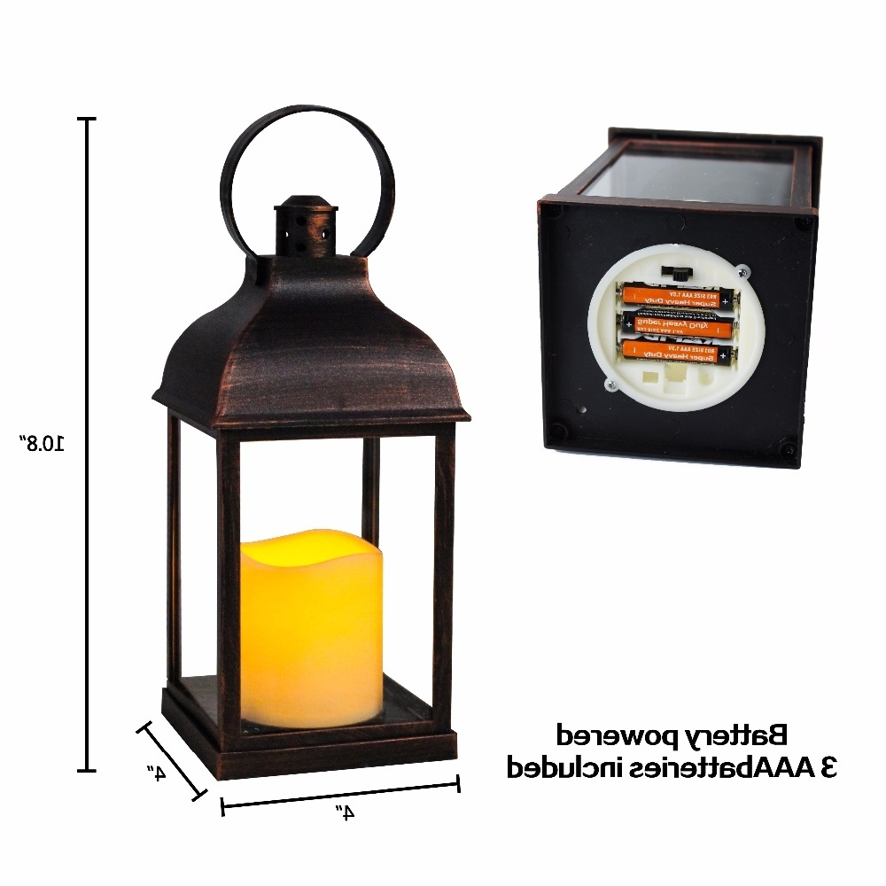 Outdoor Lanterns With Timers Regarding Most Up To Date Wralwayslx Decorative Lanterns With Flameless Candles With Timer (Gallery 15 of 20)