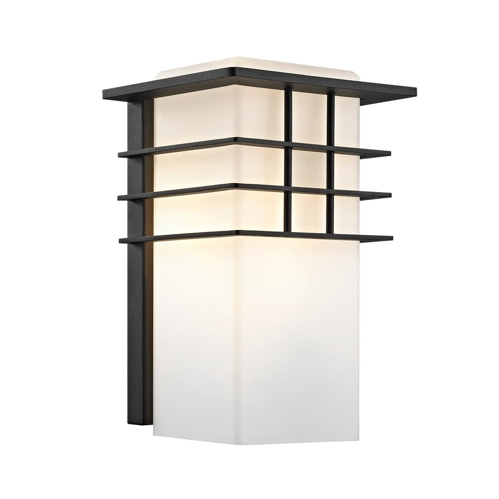 Outdoor Lanterns Without Glass Regarding Popular Home Decorators Collection 1 Light Forged Iron Outdoor Lantern With (View 14 of 20)