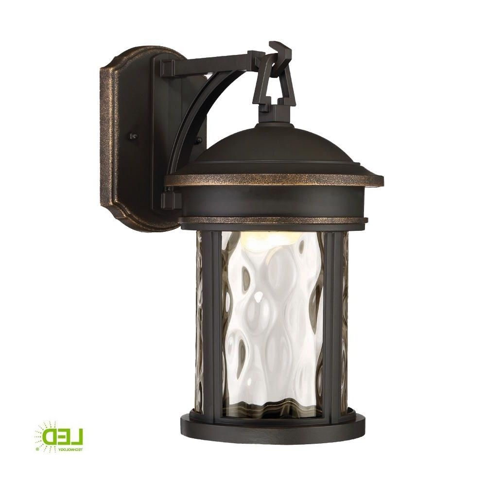 Outdoor Lanterns Without Glass With Regard To Best And Newest Envirolite 16 In. Led Olympic Bronze Outdoor Wall Lantern With Clear (Gallery 7 of 20)
