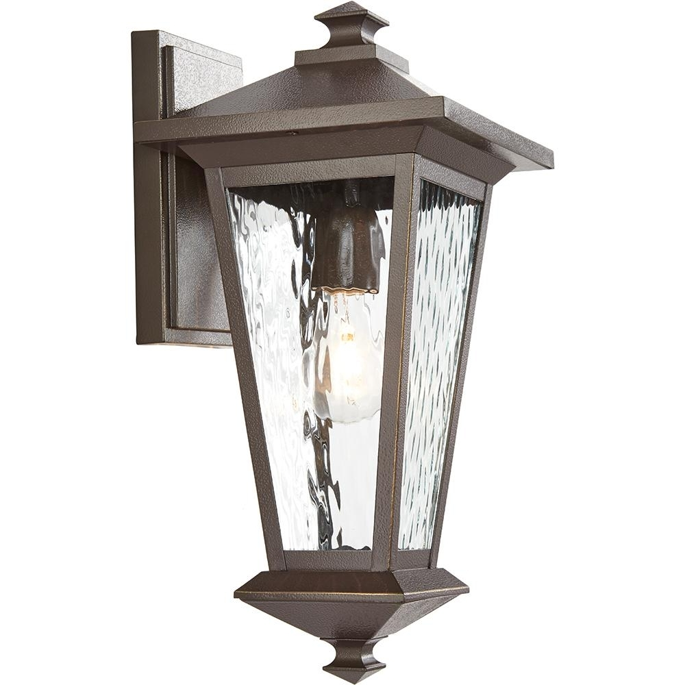Outdoor Lanterns Without Glass Within Most Current Home Decorators Collection 1 Light Oil Rubbed Bronze With Gold (View 15 of 20)