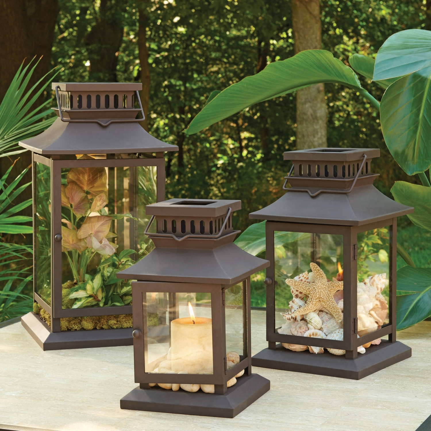 Outdoor Lawn Lanterns Inside Popular Better Homes And Gardens Square Metal Outdoor Lantern – Walmart (View 5 of 20)