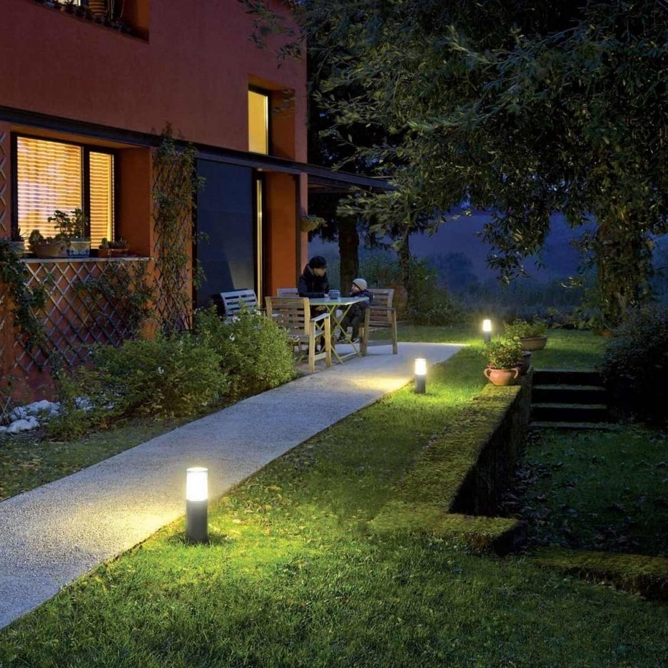 Outdoor Lawn Lanterns Intended For Well Known Malibu Landscape Lighting Outside Fixtures Outdoor Porch Lanterns (View 11 of 20)