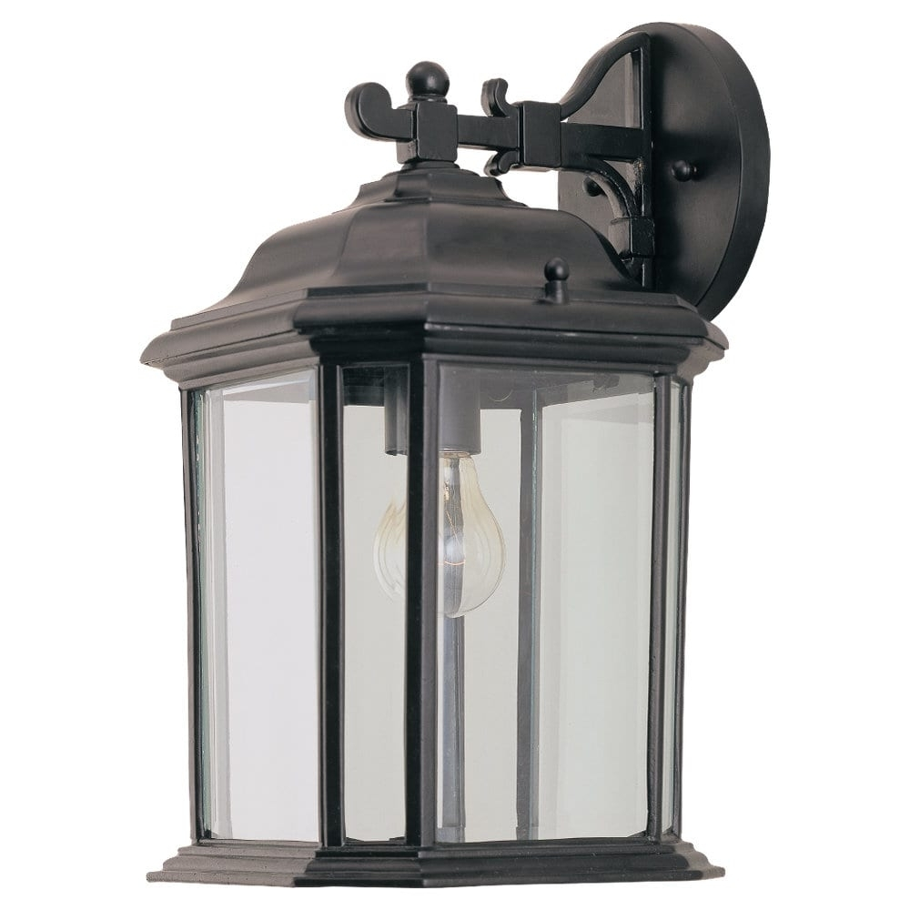 Outdoor Light Wall Lantern Clear Beveled Glass Panels Weather Regarding Current Outdoor Weather Resistant Lanterns (View 13 of 20)