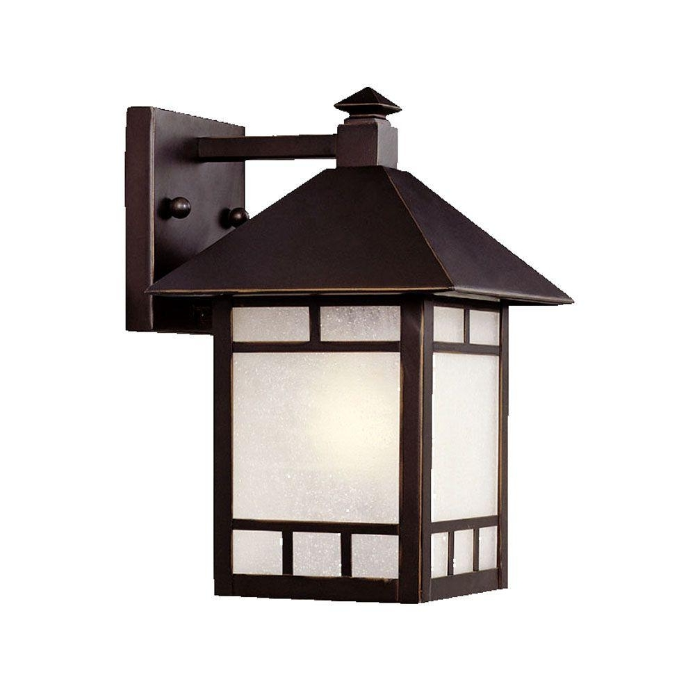 Outdoor Lighting Japanese Lanterns Within Newest Acclaim Lighting Artisan Collection 1 Light Architectural Bronze (View 18 of 20)