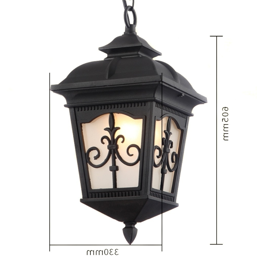 Outdoor Lighting Solid And Durable Outdoor Pendants Waterproof With Favorite Rust Proof Outdoor Lanterns (Gallery 9 of 20)