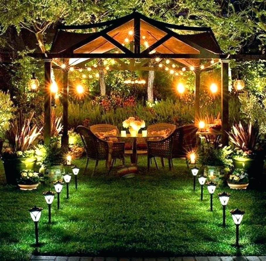 Outdoor Lights For Patio Battery Operated String Light Stringer Regarding Well Liked Outdoor Lanterns For Patio (View 12 of 20)
