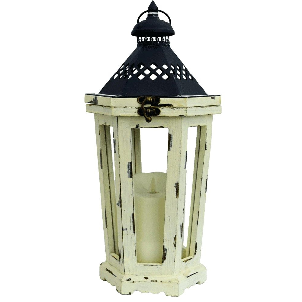 Outdoor Luminara Lanterns Intended For Recent Candles ~ Flameless Candle Lanterns Lantern For Block Black Indoor (View 16 of 20)