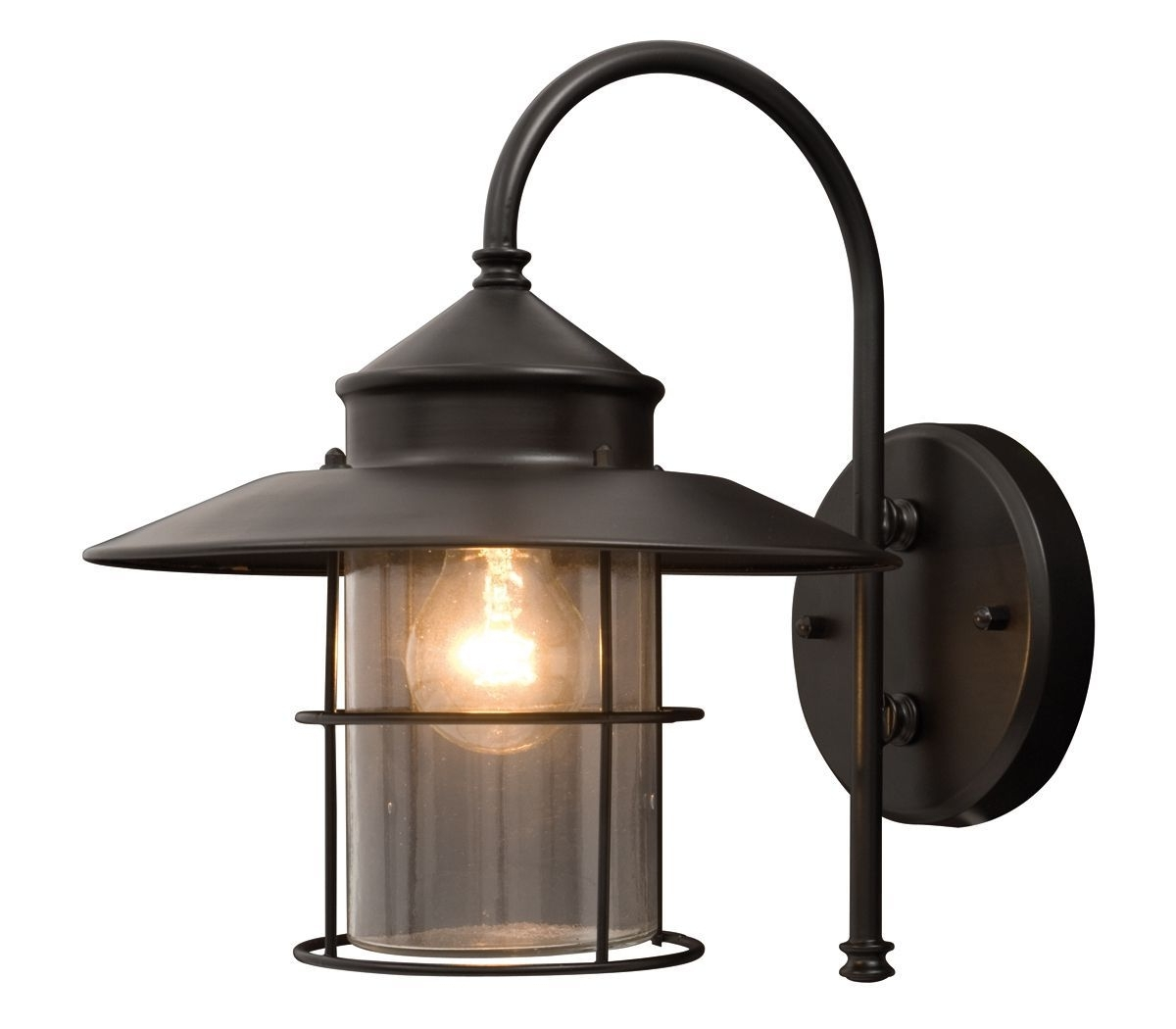 Outdoor Mains Lanterns Inside Well Known Vincent Black Mains Powered External Wall Lantern (View 12 of 20)