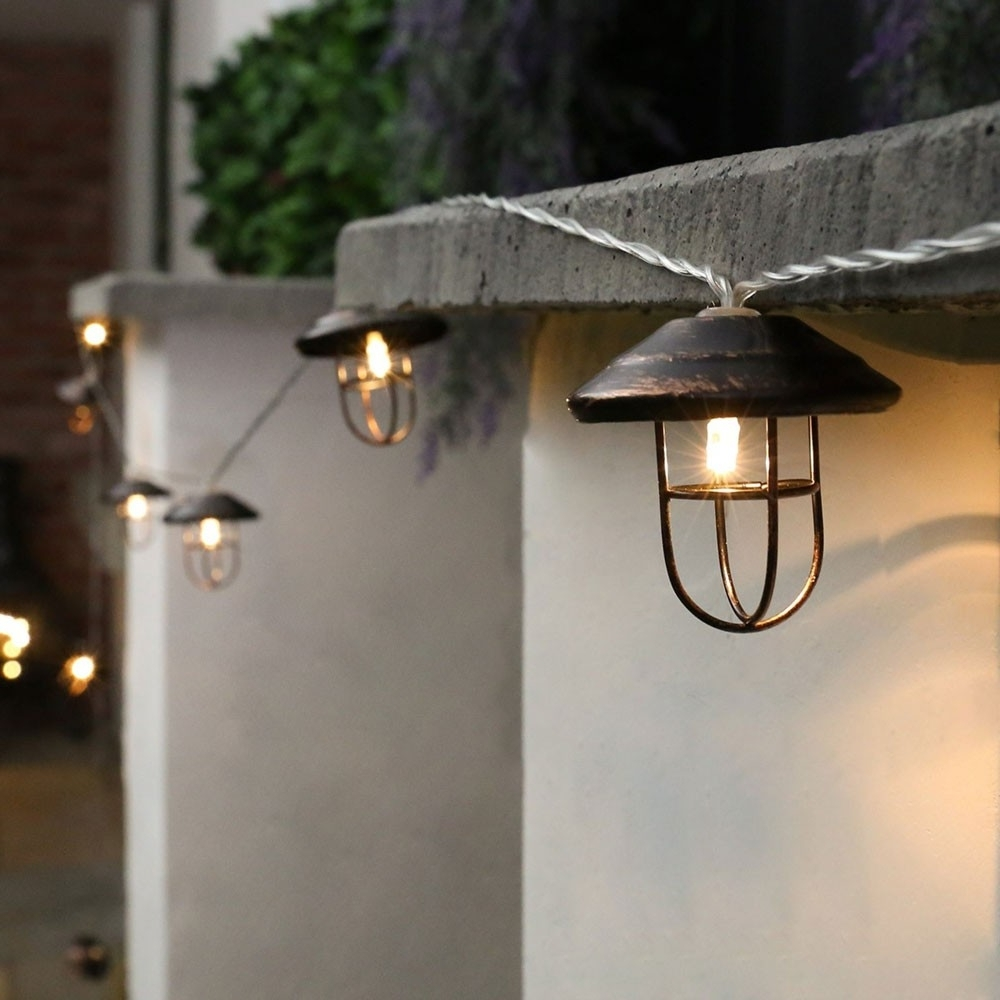 Outdoor Mains Lanterns Intended For Popular Outdoor Battery Fairy Lights (View 14 of 20)