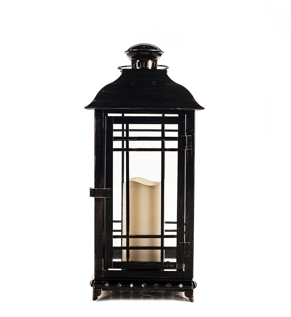 Outdoor Metal Lanterns For Candles Within Fashionable Enchanting Revere Classic Large Matte Black Outdoor Candle Lantern (Gallery 17 of 20)