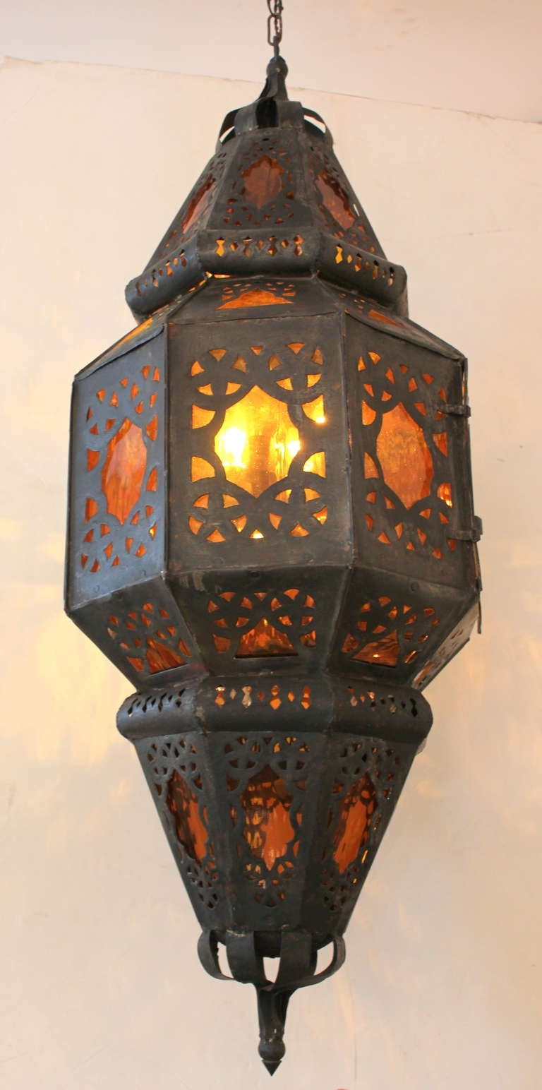 Outdoor Mexican Lanterns Intended For Popular Large Vintage Mexican Lantern For Sale At 1stdibs (View 9 of 20)