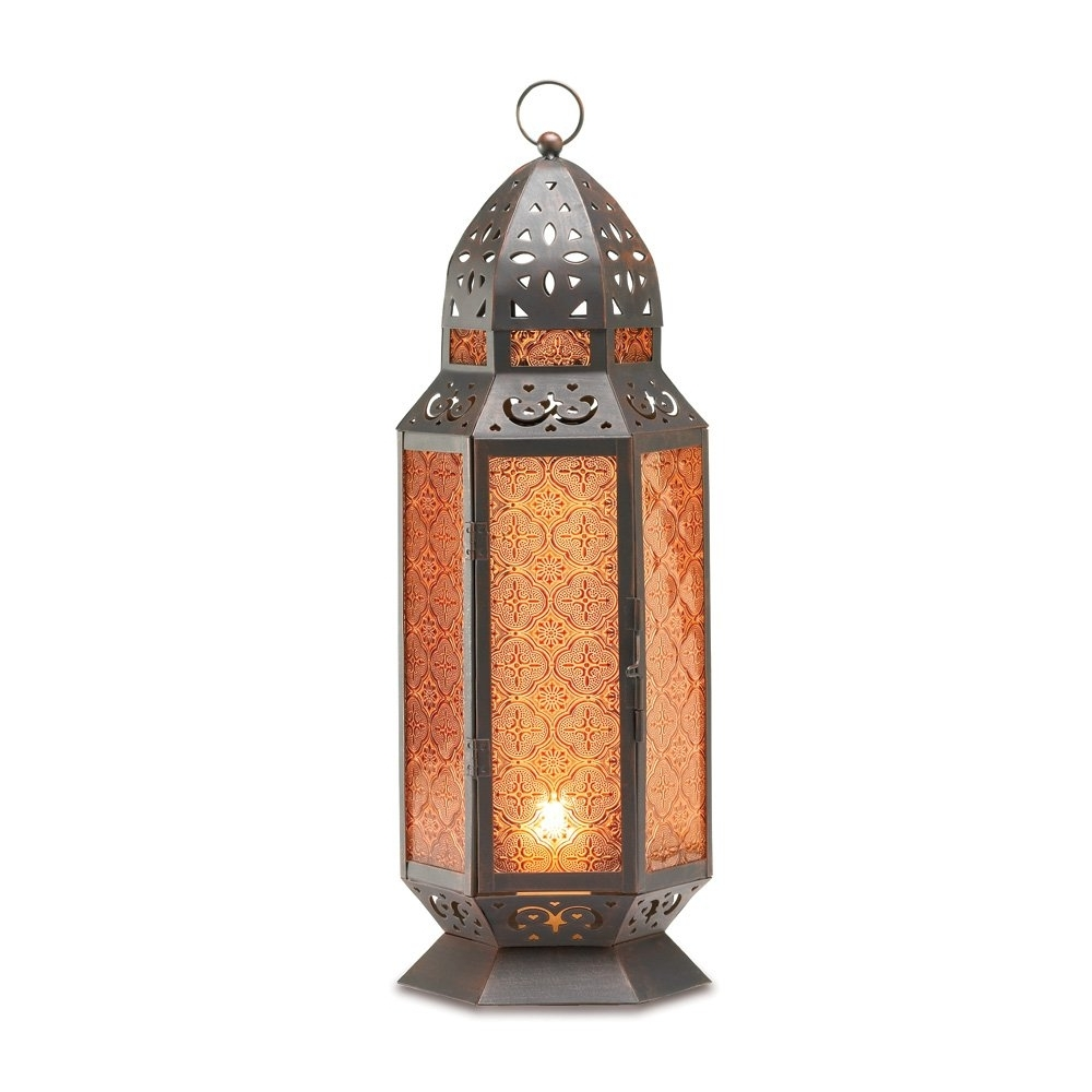 Outdoor Moroccan Lantern, Lantern Table Lamp, Tall Decorative Candle With Trendy Tall Outdoor Lanterns (View 18 of 20)