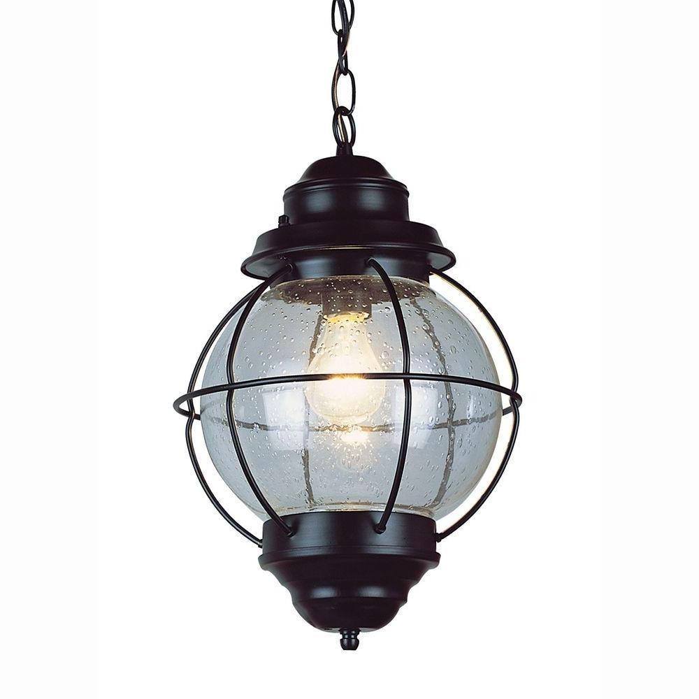 Outdoor Nautical Lanterns Inside Well Liked Bel Air Lighting Lighthouse 1 Light Outdoor Hanging Black Lantern (View 14 of 20)