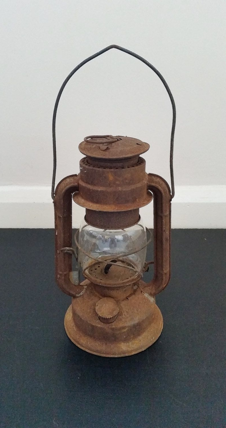Outdoor Oil Lanterns For Patio Pertaining To Trendy Vintage Oil Lantern, Hanging Lamp, Old Kerosene Light, Rustic (Gallery 17 of 20)