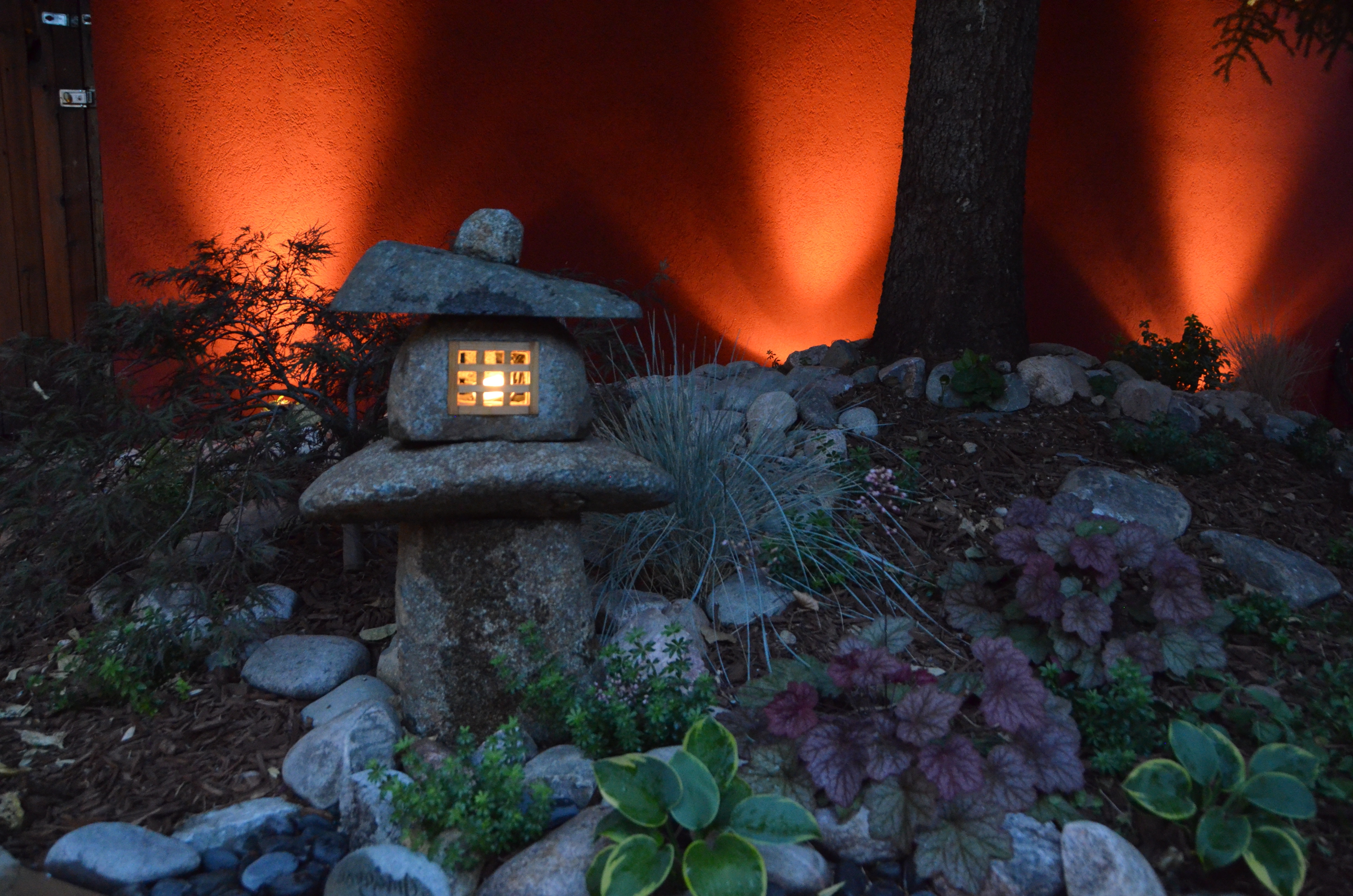 Outdoor Oriental Lanterns Pertaining To Well Liked Japanese Lantern With Outdoor Lighting – Landscaping In Denver (View 11 of 20)