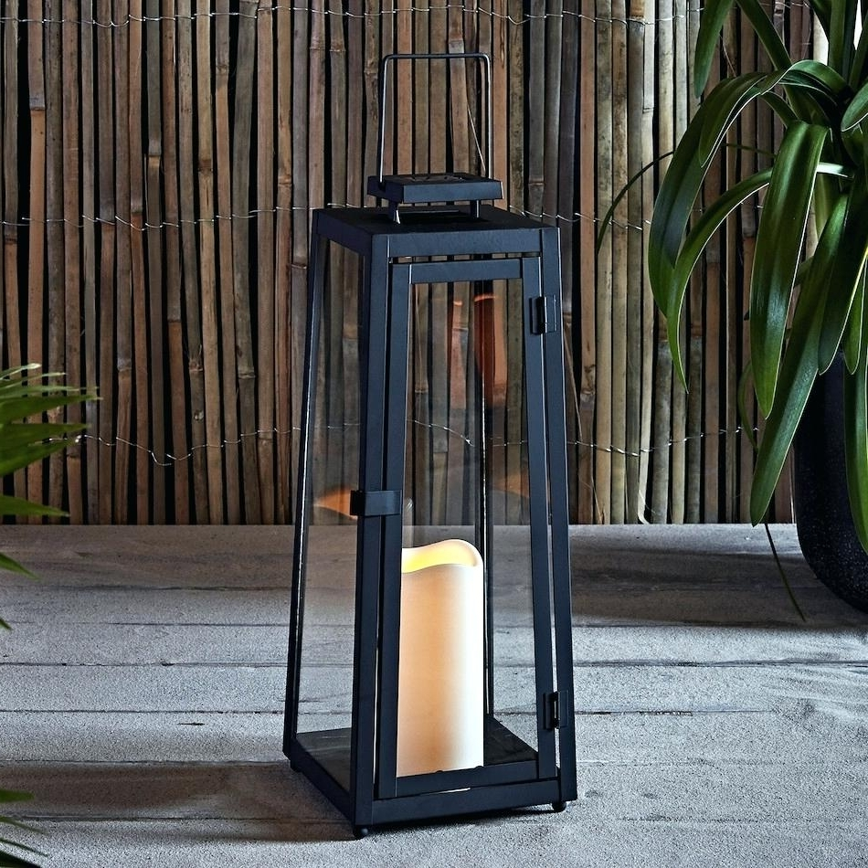 Outdoor Oversized Lanterns Intended For Most Recently Released Candles: Oversized Candle Lanterns (View 12 of 20)