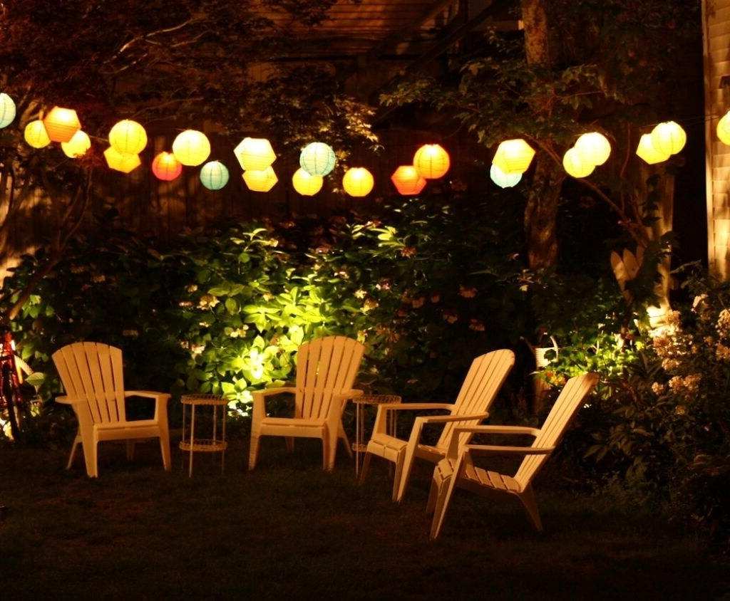 Outdoor Paper Lanterns For Patio For Most Current 27 Best Backyard Lighting Ideas And Designs For  (View 9 of 20)