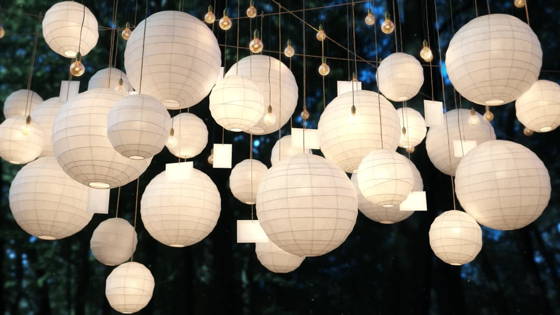 Outdoor Paper Lanterns Pertaining To Widely Used Colorful Fancy Wedding Mini Hanging Decorative Gift Wish Outdoor Led (View 15 of 20)